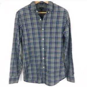 J.Crew Slim fit men's button down plaid shirt